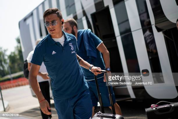 Paulo Dybala of Juventus departs on August 4 2017 in Turin Italy