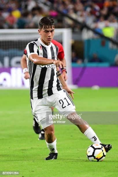 Paulo Dybala of Juventus during the International Champions Cup match between Paris Saint Germain and Juventus Turin at Hard Rock Stadium on July 26...