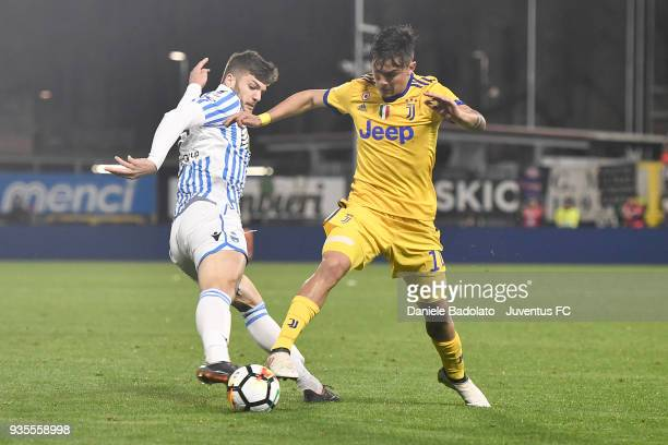 Paulo Dybala of Juventus during the serie A match between Spal and Juventus at Stadio Paolo Mazza on March 17 2018 in Ferrara Italy