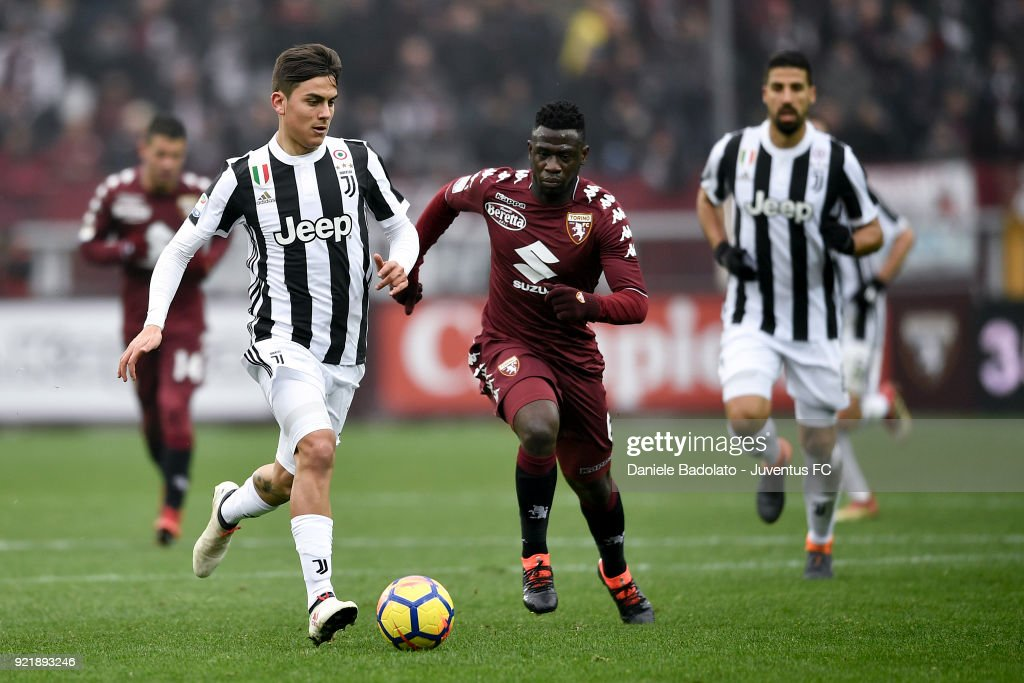 Paulo Dybala of Juventus during the serie A match between Torino FC and Juventus at Stadio Olimpico di Torino on February 18, 2018 in Turin, Italy.