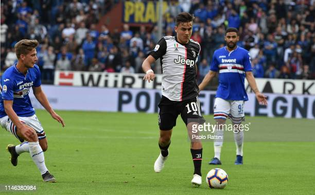 Paulo Dybala of Juventus during the Serie A match between UC Sampdoria and Juventus at Stadio Luigi Ferraris on May 26 2019 in Genoa Italy