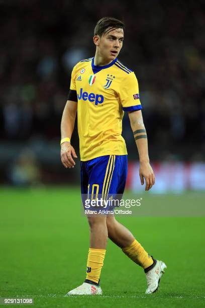 Paulo Dybala of Juventus during the UEFA Champions League Round of 16 Second Leg match between Tottenham Hotspur and Juventus at Wembley Stadium on...