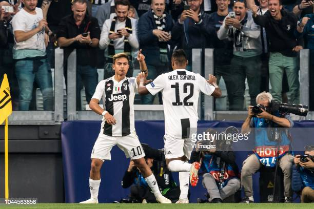 Paulo Dybala of Juventus FC Alex Sandro Lobo Silva of Juventus FC during the UEFA Champions League group H match between Juventus FC and Young Boys...