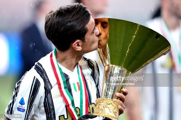 Paulo Dybala of Juventus FC celebrate after winning the Serie A Championship 20192020 after the Serie A match between Juventus Fc and As Roma As Roma...