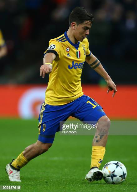 Paulo Dybala of Juventus FC during UEFA Champions League Round of 16 2nd Leg match Tottenham Hotspur against Juventus at Wembley Stadium on 07 March...