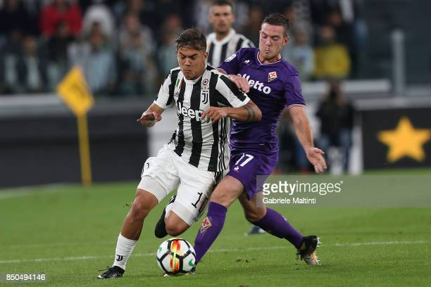 Paulo Dybala of Juventus FC in action during the Serie A match between Juventus and ACF Fiorentina on September 20 2017 in Turin Italy