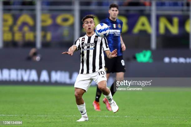 Paulo Dybala of Juventus Fc in action during the Serie A match between Fc Internazionale and Juventus Fc. The match ends in a tie 1-1.
