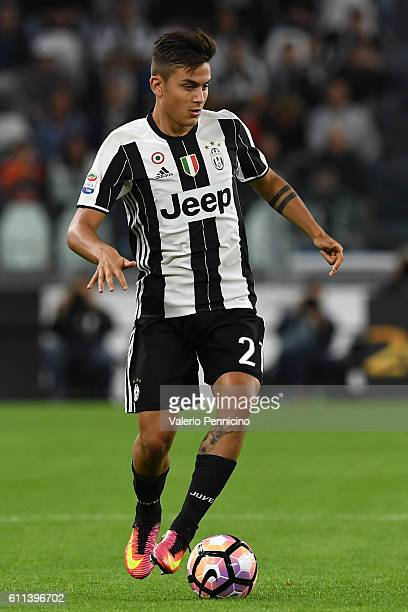 Paulo Dybala of Juventus FC in action during the Serie A match between Juventus FC and Cagliari Calcio at Juventus Stadium on September 21 2016 in...