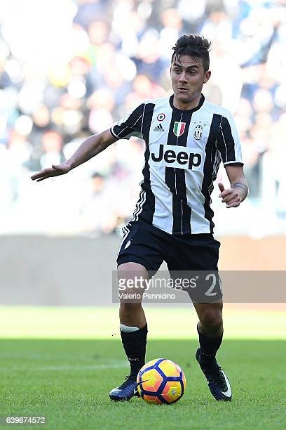 Paulo Dybala of Juventus FC in action during the Serie A match between Juventus FC and SS Lazio at Juventus Stadium on January 22 2017 in Turin Italy