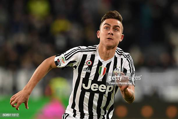 Paulo Dybala of Juventus FC looks on during the Serie A match between Juventus FC and Genoa CFC at Juventus Arena on February 3 2016 in Turin Italy