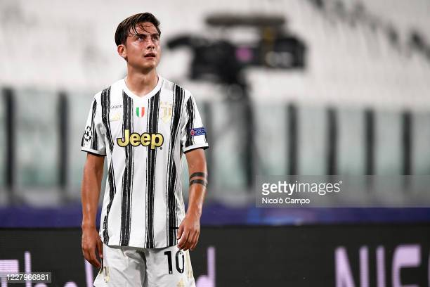 Paulo Dybala of Juventus FC looks on during the UEFA Champions League round of 16 second leg football match between Juventus FC and Olympique...