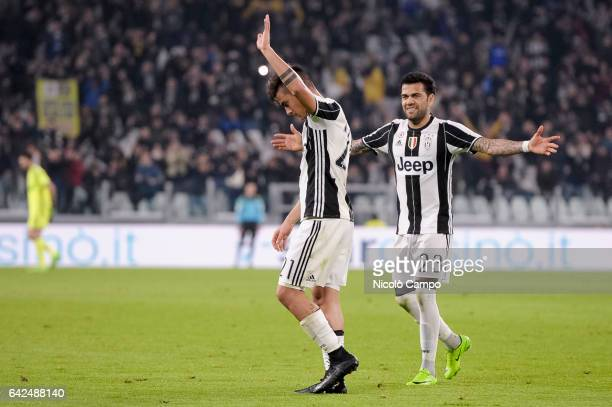 Paulo Dybala of Juventus FC reacts after scoring during the Serie A football match between Juventus FC and US Citta di Palermo Juventus FC wins 41...