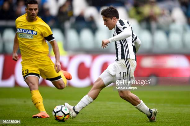 Paulo Dybala of Juventus FC scores a goal during the Serie A football match between Juventus FC and Udinese Calcio Juventus FC won 20 over Udinese...