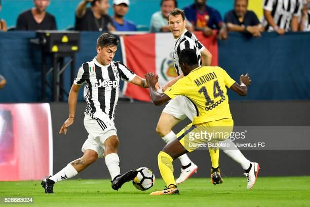 Paulo Dybala of Juventus in action during the International Champions Cup 2017 match between Paris Saint Germain and Juventus at Hard Rock Stadium on...