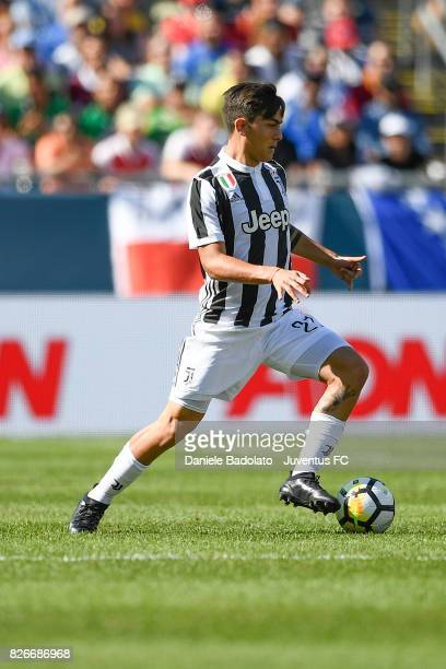 Paulo Dybala of Juventus in action during the International Champions Cup 2017 match between AS Roma and Juventus at Gillette Stadium on July 30 2017...