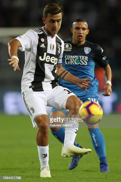 Paulo Dybala of Juventus in action during the Serie A match between Empoli and Juventus at Stadio Carlo Castellani on October 27 2018 in Empoli Italy