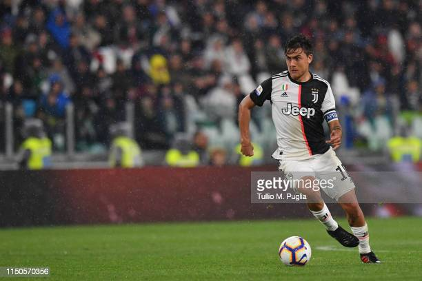 Paulo Dybala of Juventus in action during the Serie A match between Juventus and Atalanta BC on May 19 2019 in Turin Italy