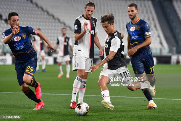 Paulo Dybala of Juventus in action during the Serie A match between Juventus and US Lecce at Allianz Stadium on June 26 2020 in Turin Italy