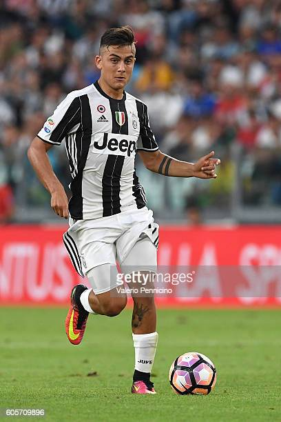 Paulo Dybala of Juventus in action during the Serie A match between Juventus FC and US Sassuolo at Juventus Stadium on September 10 2016 in Turin...