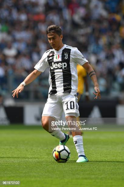 Paulo Dybala of Juventus in action during the Serie A match between Juventus and Hellas Verona FC at Allianz Stadium on May 19 2018 in Turin Italy...
