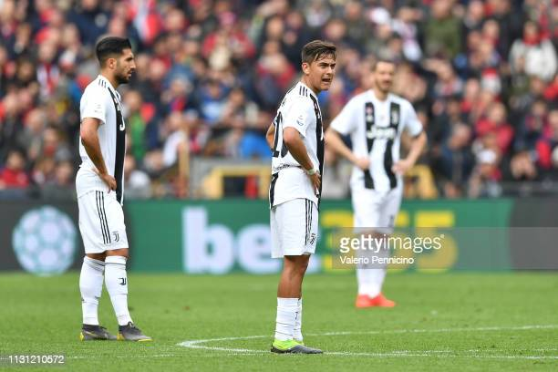 Paulo Dybala of Juventus looks dejected during the Serie A match between Genoa CFC and Juventus at Stadio Luigi Ferraris on March 17 2019 in Genoa...