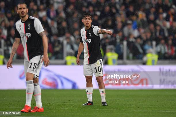 Paulo Dybala of Juventus reacts during the Serie A match between Juventus and Atalanta BC on May 19 2019 in Turin Italy