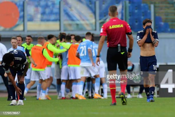 Paulo Dybala shows his dejection during the Serie A match between SS Lazio and Juventus at Stadio Olimpico on November 8, 2020 in Rome, Italy.