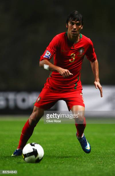 Paulo Ferreira of Portugal in action during the FIFA2010 Group One World Cup Qualifying match between Portugal and Albania at the Estadio Municipal...