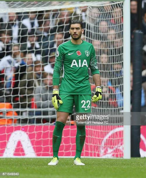 Paulo Gazzaniga of Tottenham during the Premier League match between Tottenham Hotspur and Crystal Palace at Wembley Stadium on November 5 2017 in...
