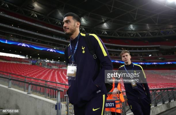 Paulo Gazzaniga of Tottenham Hotspur arrives at the stadium prior to the UEFA Champions League group H match between Tottenham Hotspur and APOEL...