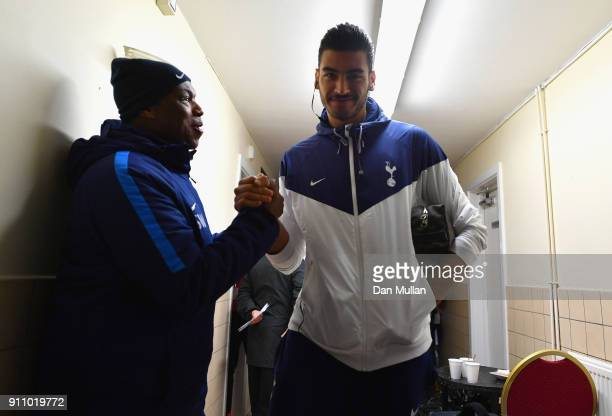 Paulo Gazzaniga of Tottenham Hotspur arrives at the stadium prior to The Emirates FA Cup Fourth Round match between Newport County and Tottenham...