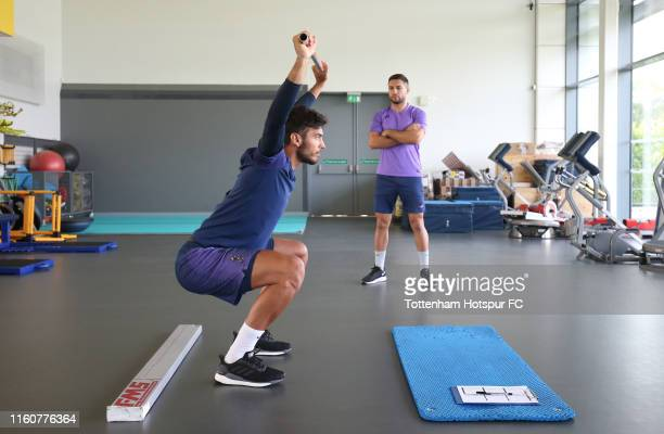 Paulo Gazzaniga of Tottenham Hotspur during a preseason gym session at Tottenham Hotspur Training Centre on July 08 2019 in Enfield England