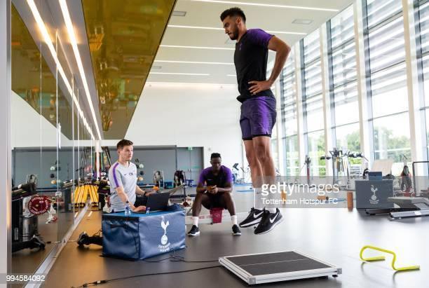 Paulo Gazzaniga of Tottenham Hotspur during pre season training at Tottenham Hotspur Training Centre on July 9 2018 in Enfield England