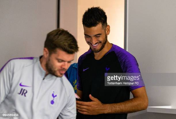 Paulo Gazzaniga of Tottenham Hotspur during pre season training at Tottenham Hotspur Training Centre on July 9 2018 in Enfield England