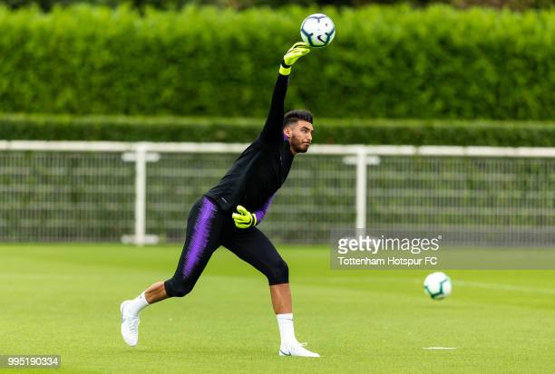Paulo Gazzaniga of Tottenham Hotspur during pre season training at Tottenham Hotspur Training Centre on July 10 2018 in Enfield England
