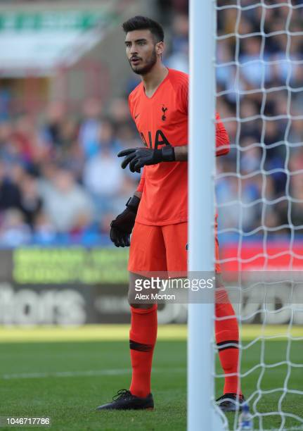 Paulo Gazzaniga of Tottenham Hotspur during the Premier League match between Huddersfield Town and Tottenham Hotspur at John Smith's Stadium on...
