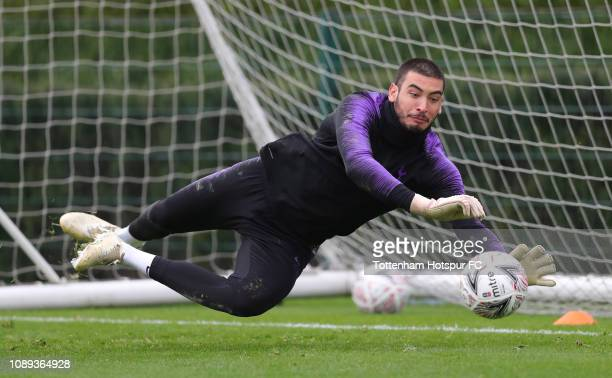 Paulo Gazzaniga of Tottenham Hotspur during the Tottenham Hotspur training session at Tottenham Hotspur Training Centre on January 03 2019 in Enfield...