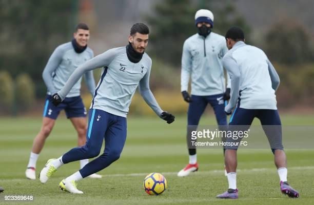Paulo Gazzaniga of Tottenham Hotspur during the Tottenham Hotspur training session at Tottenham Hotspur Training Centre on February 23 2018 in...