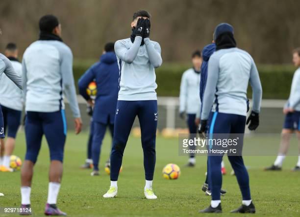 Paulo Gazzaniga of Tottenham Hotspur during the Tottenham Hotspur Training Session at the Tottenham Hotspur Training Ground on March 9 2018 in...