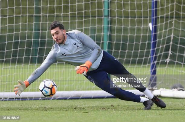 Paulo Gazzaniga of Tottenham Hotspur during the Tottenham Hotspur training session at Tottenham Hotspur Training Centre on March 14 2018 in Enfield...