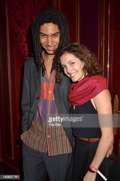 Paulo Goude and his Girl friend attend the 'Don't Tell My Booker' Supports La Croix Rouge Dinner Paris Fashion Week Womenswear Fall/Winter 2012 at...