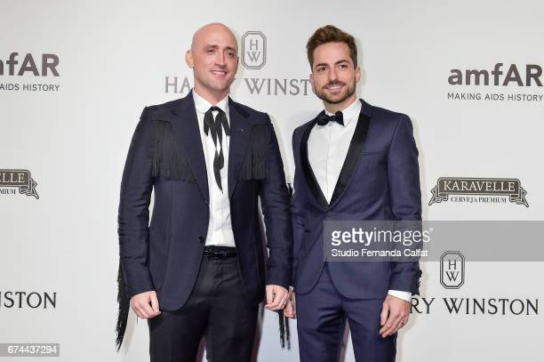 Paulo Gustavo and Thales Bretas attend the 7th Annual amfAR Inspiration Gala on April 27 2017 in Sao Paulo Brazil