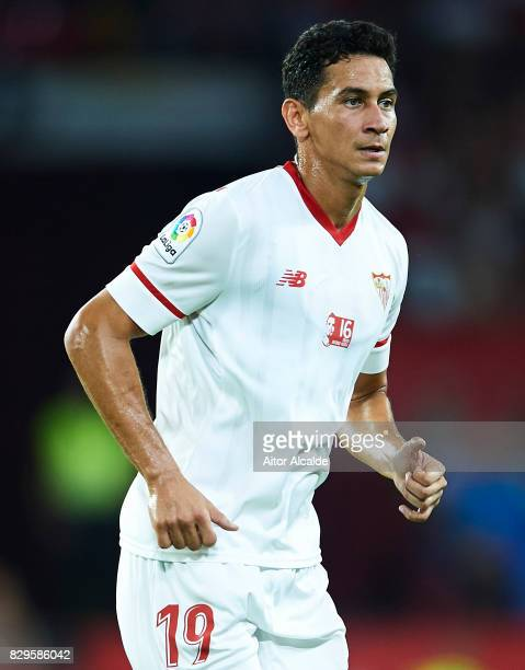Paulo Henrique Ganso of Sevilla FC looks on during a Pre Season Friendly match between Sevilla FC and AS Roma at Estadio Ramon Sanchez Pizjuan on...