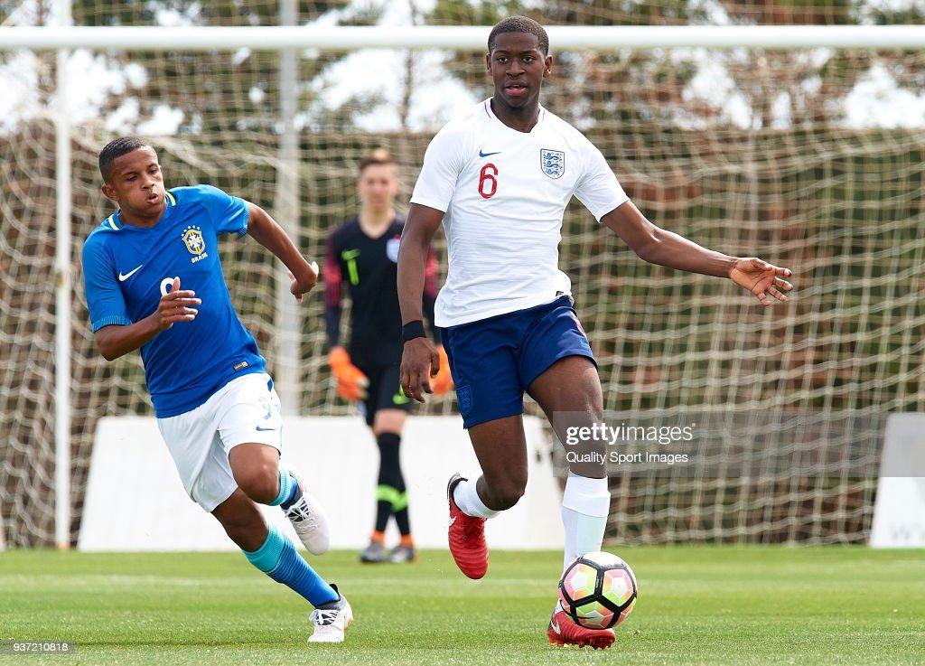 England  U17 v Brazil U17 - International Friendly : News Photo