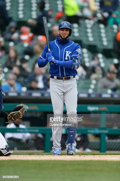Paulo Orlando of the Kansas City Royals bats against the Detroit Tigers at Comerica Park on April 3, 2018 in Detroit, Michigan.