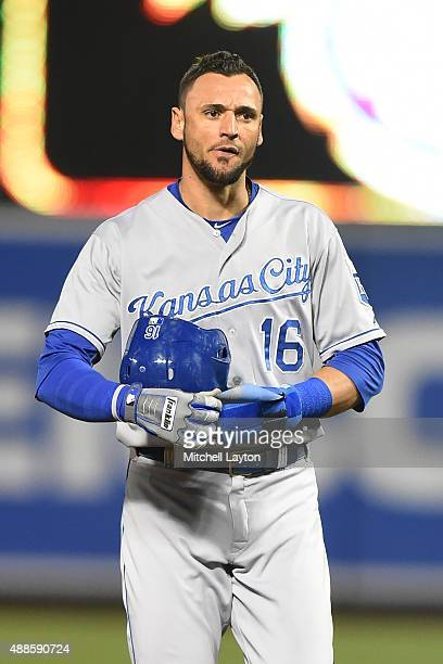 Paulo Orlando of the Kansas City Royals looks on during a baseball game against the Baltimore Orioles at Oriole Park at Camden Yards on September 11,...