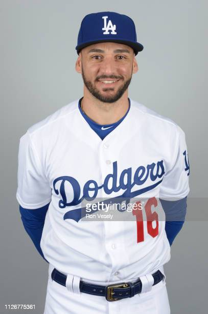 Paulo Orlando of the Los Angeles Dodgers poses during Photo Day on Thursday February 20 2019 at Camelback Ranch in Glendale Arizona