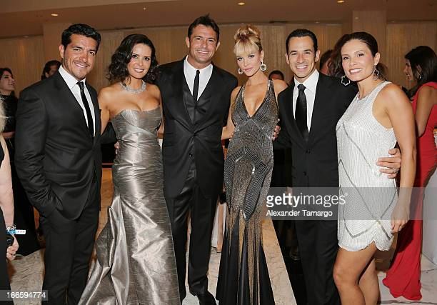 Paulo Quevedo Karent Sierra Romain Zago Joanna Krupa Helio Castroneves and Adriana Henao attend the Blacks' Annual Gala at Fontainebleau Miami Beach...