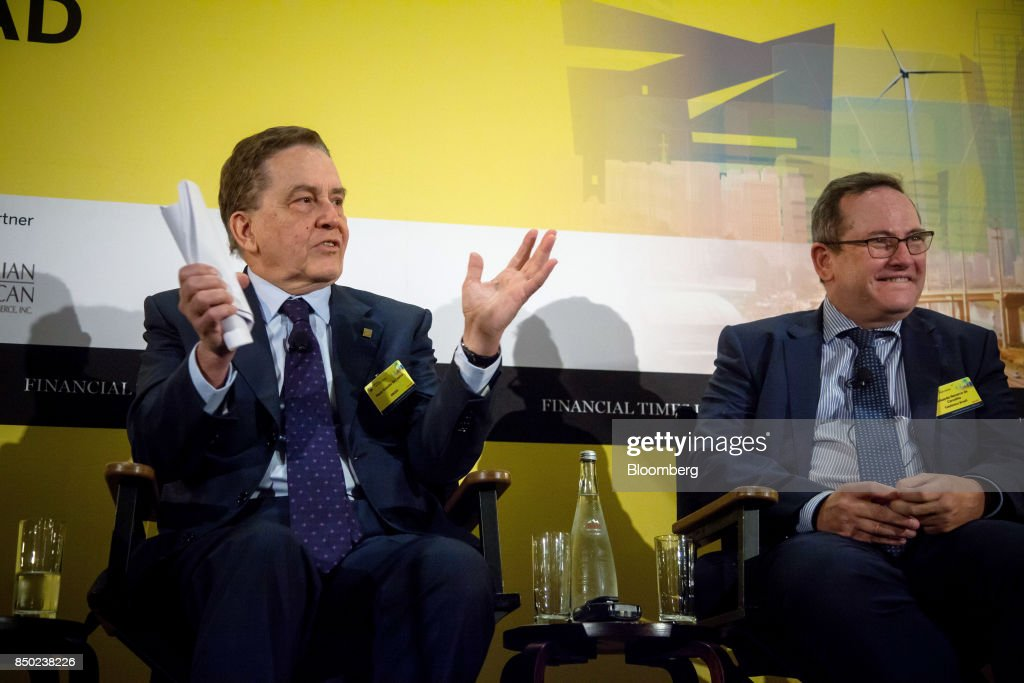 "Key Speakers At The Financial Times ""Brazil: The Road Ahead"" Event : News Photo"