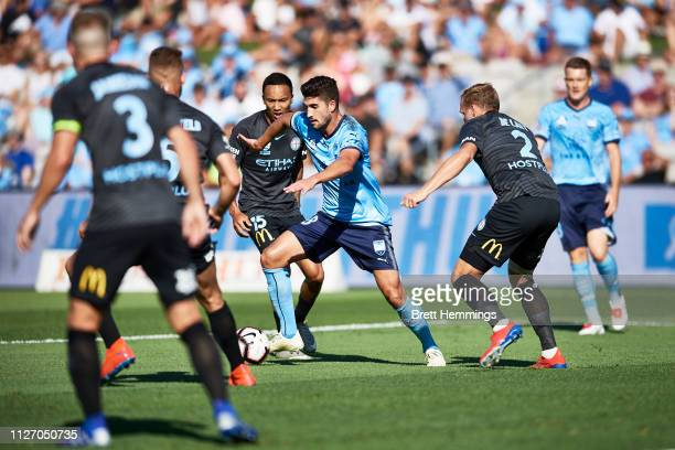 Paulo Retre of Sydney controls the ball during the round 17 ALeague match between Sydney FC and Melbourne City at WIN Jubilee Stadium on February 03...